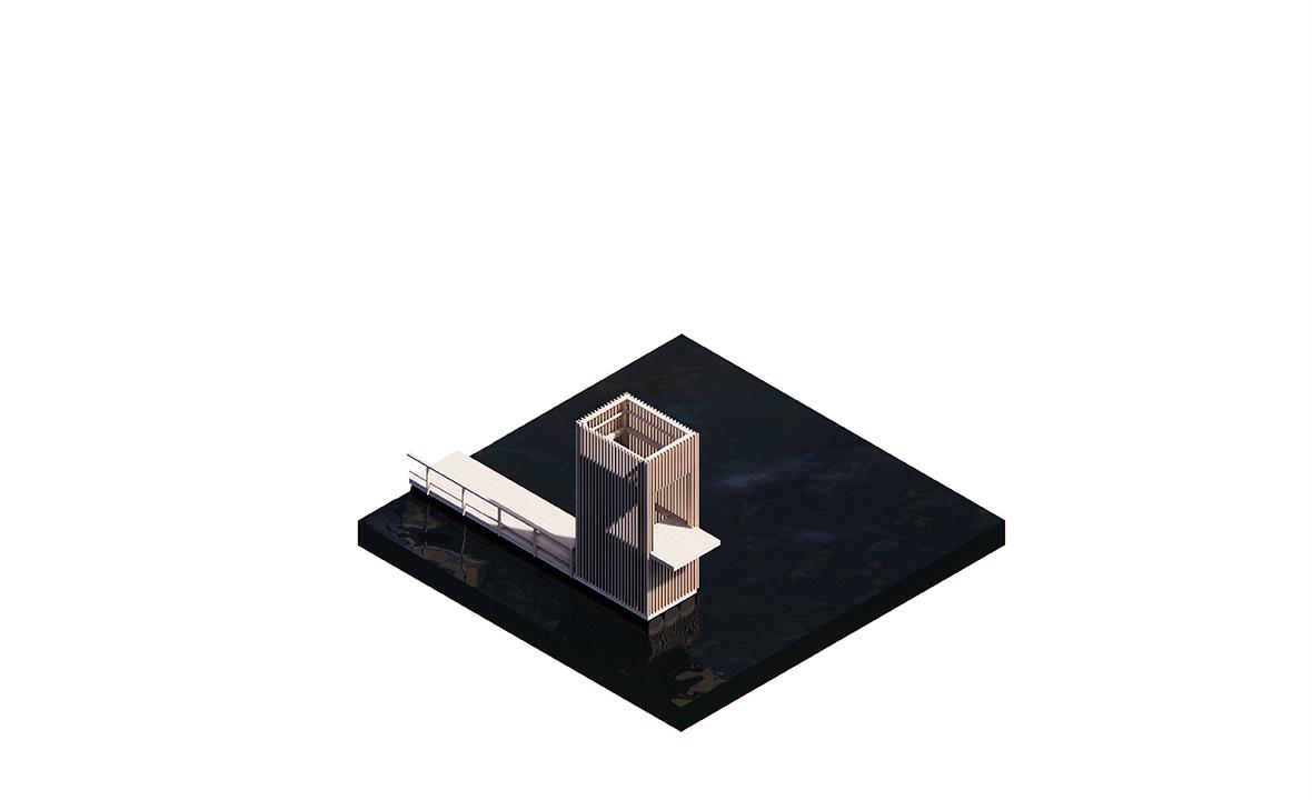 Nature reserve 020 axo 10 floating dock-02 platform